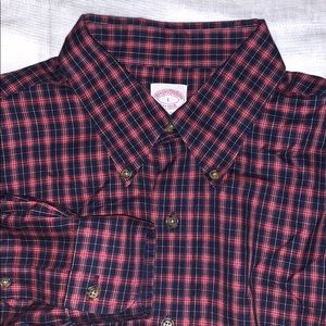 Brooks Brothers button down check shirt